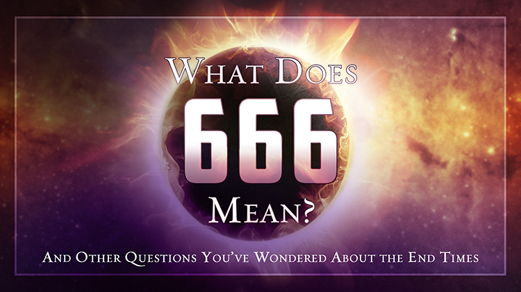 A sign of 666 on colorful background