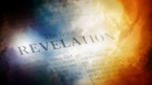 Open Bible to the beginning of the book of Revelation
