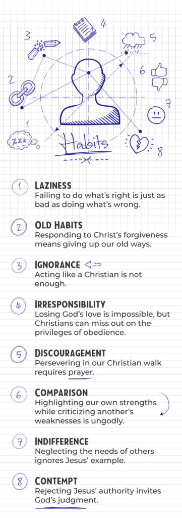 Infographic: 8 Habits That Are Destroying Your Walk With God
