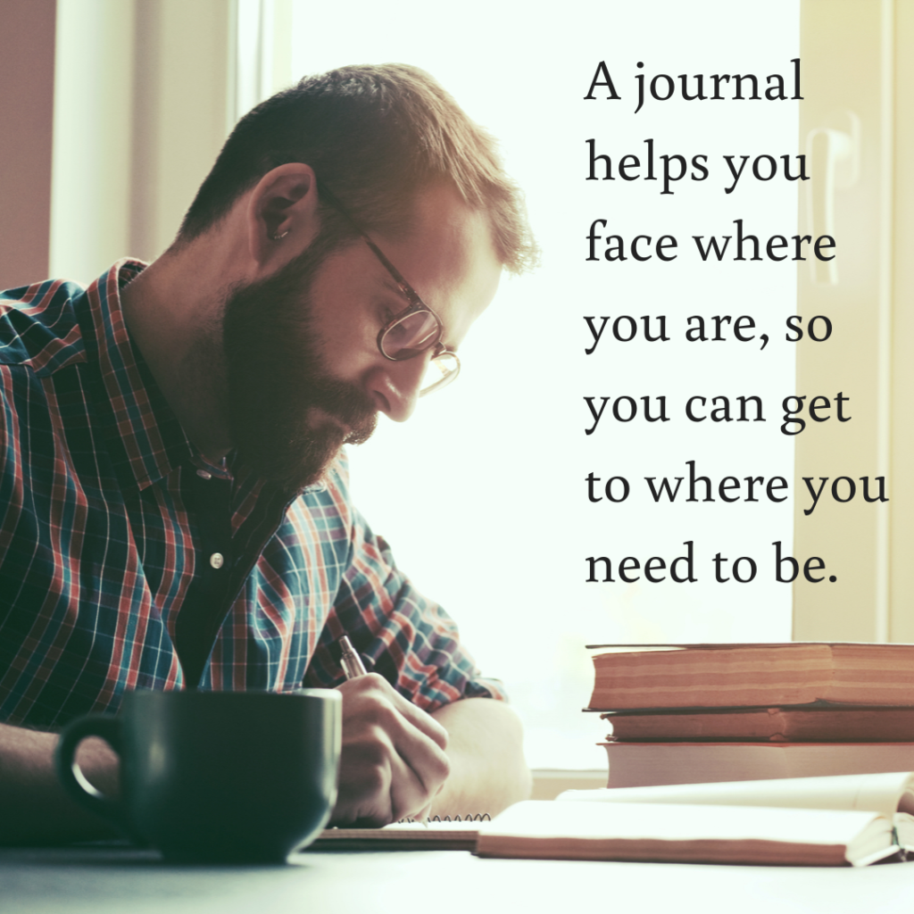 Meme: A journal helps you face where you are, so you can get to where you need to be.
